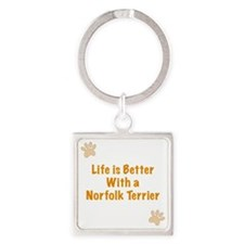 Life is better with a Norfolk Terr Square Keychain