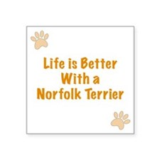 """Life is better with a Norfo Square Sticker 3"""" x 3"""""""