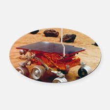 Model of the Mars Pathfinder rover Oval Car Magnet