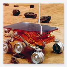 """Model of the Mars Pathfi Square Car Magnet 3"""" x 3"""""""