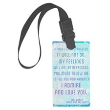 Darcy Quote Luggage Tag