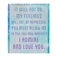 Darcy Quote Throw Blanket