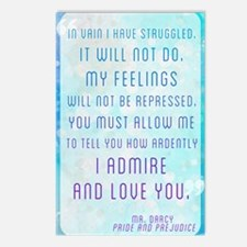 Darcy Quote Postcards (Package of 8)