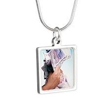 Money Silver Square Necklace