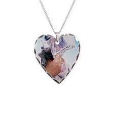 Money Necklace Heart Charm
