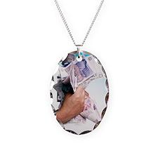 Money Necklace Oval Charm