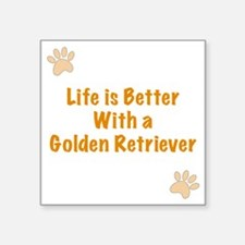 """Life is better with a Golde Square Sticker 3"""" x 3"""""""