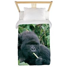 Mountain gorilla and infant Twin Duvet