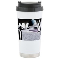 Moon base Travel Coffee Mug