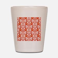 Orange Damask Shot Glass