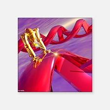 "Nanorobot on DNA Square Sticker 3"" x 3"""
