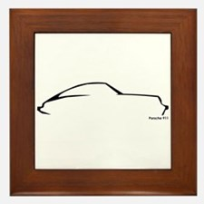Porsche 911 Black Framed Tile