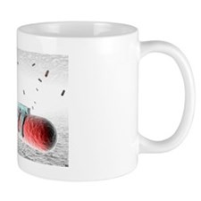 Nanorobots killing bacteria Coffee Mug