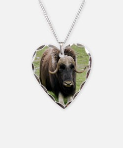 Muskox Necklace Heart Charm