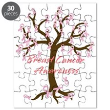 Breast Cancer Awareness Tree Puzzle