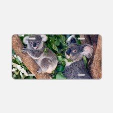 Mother koala and young Aluminum License Plate