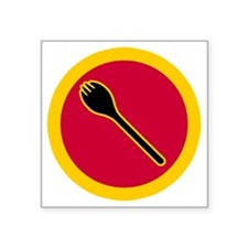 "Spork Superhero - full blee Square Sticker 3"" x 3"""