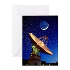 NASA deep space tracking station, Au Greeting Card