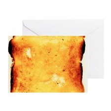 Buttered toast Greeting Card