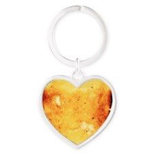 Buttered toast Heart Keychain