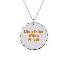 Life is better with a Pit Bu Necklace
