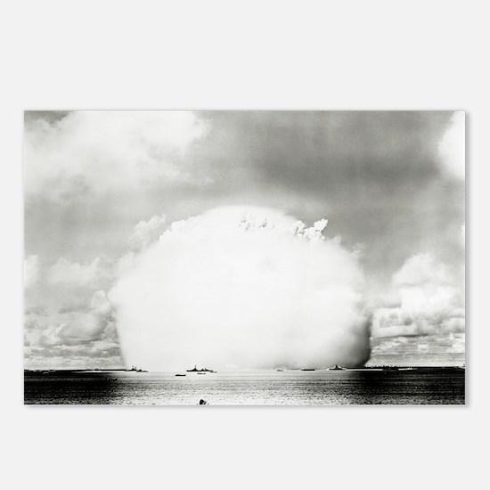 Mushroom cloud of water Postcards (Package of 8)