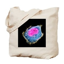 Cancer cell division Tote Bag