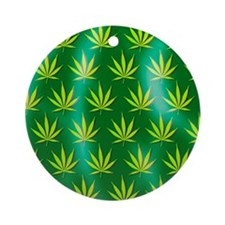 Cannabis leaves Round Ornament