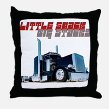 Little Shack Big Stacks Throw Pillow