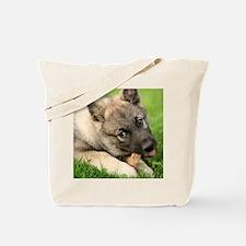 Norwegian elkhound puppy Tote Bag