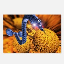 Nanorobot attacking cance Postcards (Package of 8)