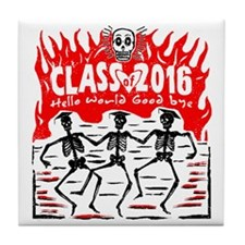Class of 2016 Skeleton Grads Tile Coaster