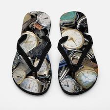 Broken wrist-watches Flip Flops