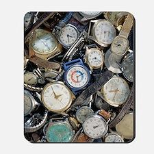 Broken wrist-watches Mousepad