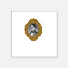 "Franklin Pierce White Square Sticker 3"" x 3"""