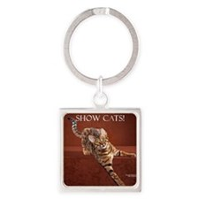 Show Cat Calendar Square Keychain