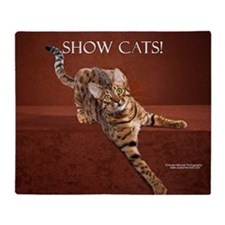 Show Cat Calendar Throw Blanket