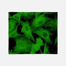 Cell microtubules/cytoskeleton Throw Blanket