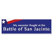 Battle of San Jacinto Bumper Bumper Bumper Sticker