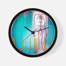 Cardiovascular system Wall Clock