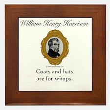 William Henry Harrison Framed Tile