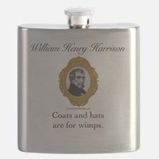 William Henry Harrison Flask