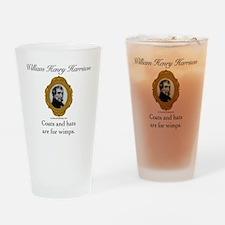 William Henry Harrison Drinking Glass