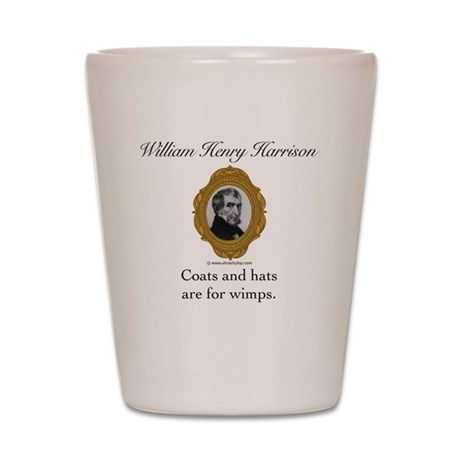William Henry Harrison Shot Glass