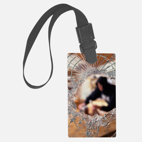 Burglar in a house Luggage Tag