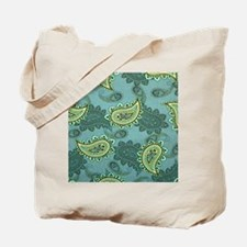 LARGE GREEN PAISLEY Tote Bag