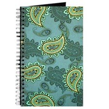 LARGE GREEN PAISLEY Journal