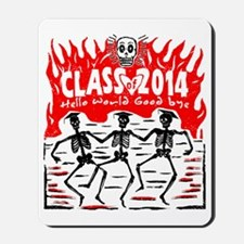 Class of 2014 Skeleton Grads Mousepad