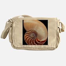 Nautilus shell Messenger Bag