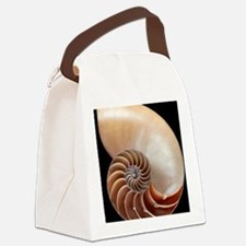 Nautilus shell Canvas Lunch Bag
